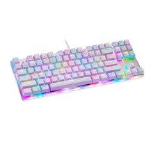 MOTOSPEED Klavye RGB Arkadan Aydınlatmalı K87S 87 Tuşları Mekanik Klavye Oyun Klavyesi Kablolu USB Özelleştirilmiş
