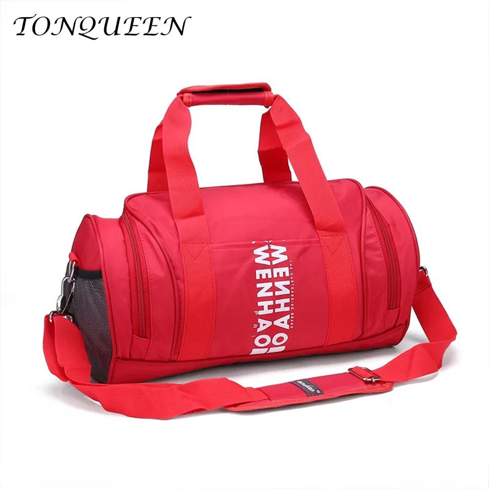 Bolsa deportiva de nailon para exteriores para hombre y mujer, bolsa de gimnasio de hombro para Fitness, bolsa de Yoga para mujer WX 074