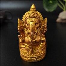 Золотая Статуя Будды Ганеша слон Бог скульптура Ганеш фигурки для сада Украшение дома аксессуары статуи 6 см/2,36 дюйма