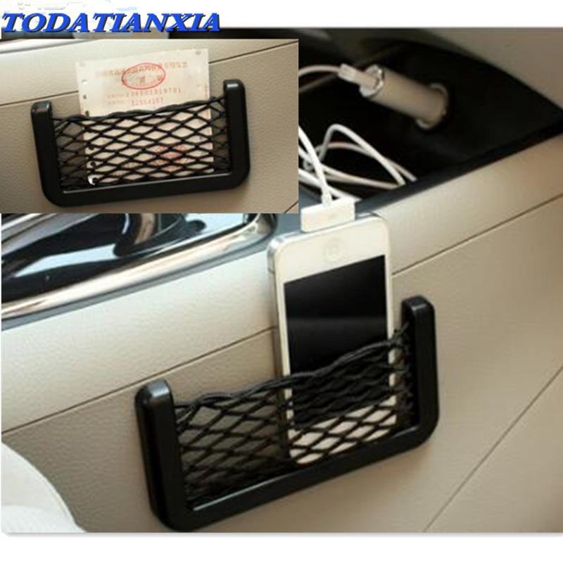 14*7cm Universal Car Seat Back Storage Net Bag FOR audi a1 dacia duster touran audi a4 passat b6 audi a3 8v peugeot 508  2008