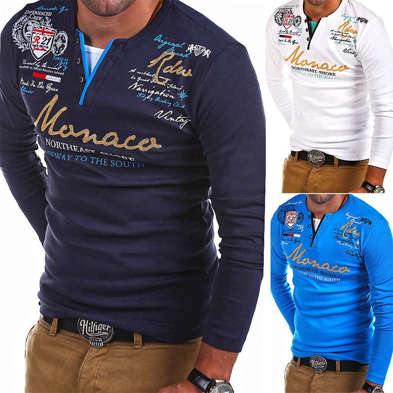 Zogaa 2018 New Fashion Men T shirt Long sleeve Slim Solid Color T-shirt Striped Fold Raglan Sleeve men casual T shirts Tops Tees