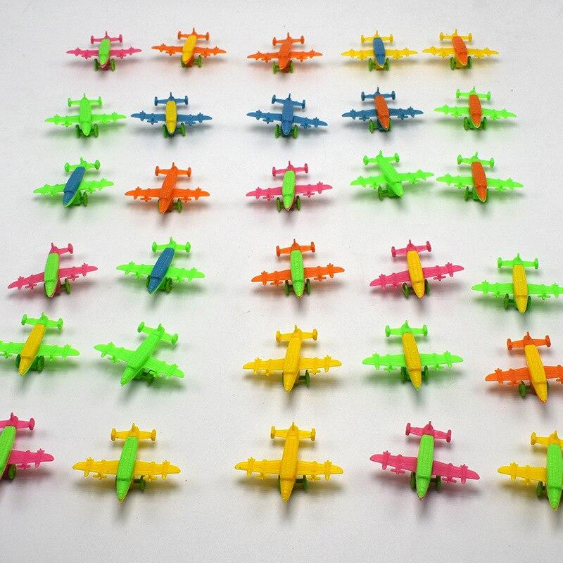 100 шт./лот модель воздушного самолета мини-игрушка пластиковые классические фигурки Детские игрушки