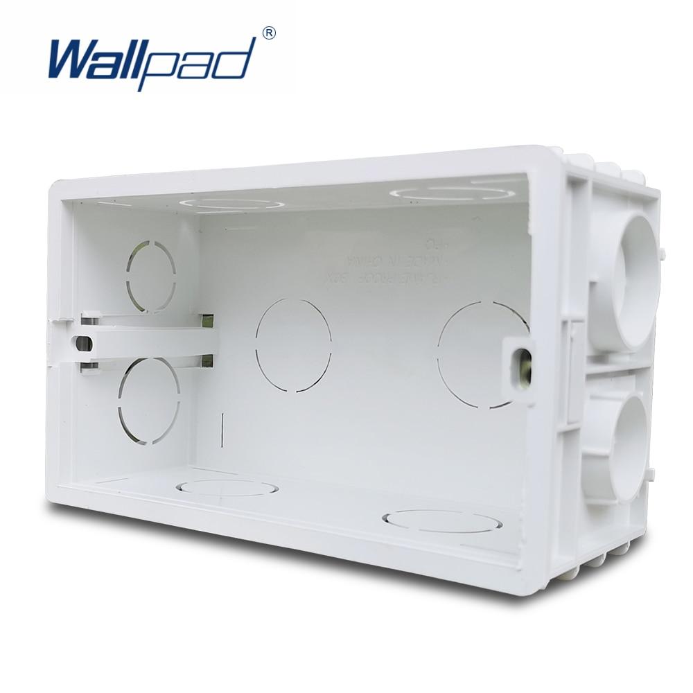 Wallpad 3x6 doble placa de pared caja de montaje para UK interruptor BS Socket 146x86mm Panel de tamaño