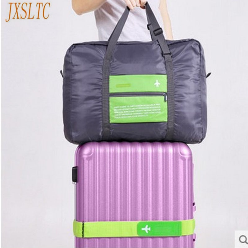 Bolsa de nailon plegable a prueba de agua, bolsa de viaje, bolsa de transporte de lona, bolsos para mujer, mochila para hombre, equipaje, cubos de embalaje