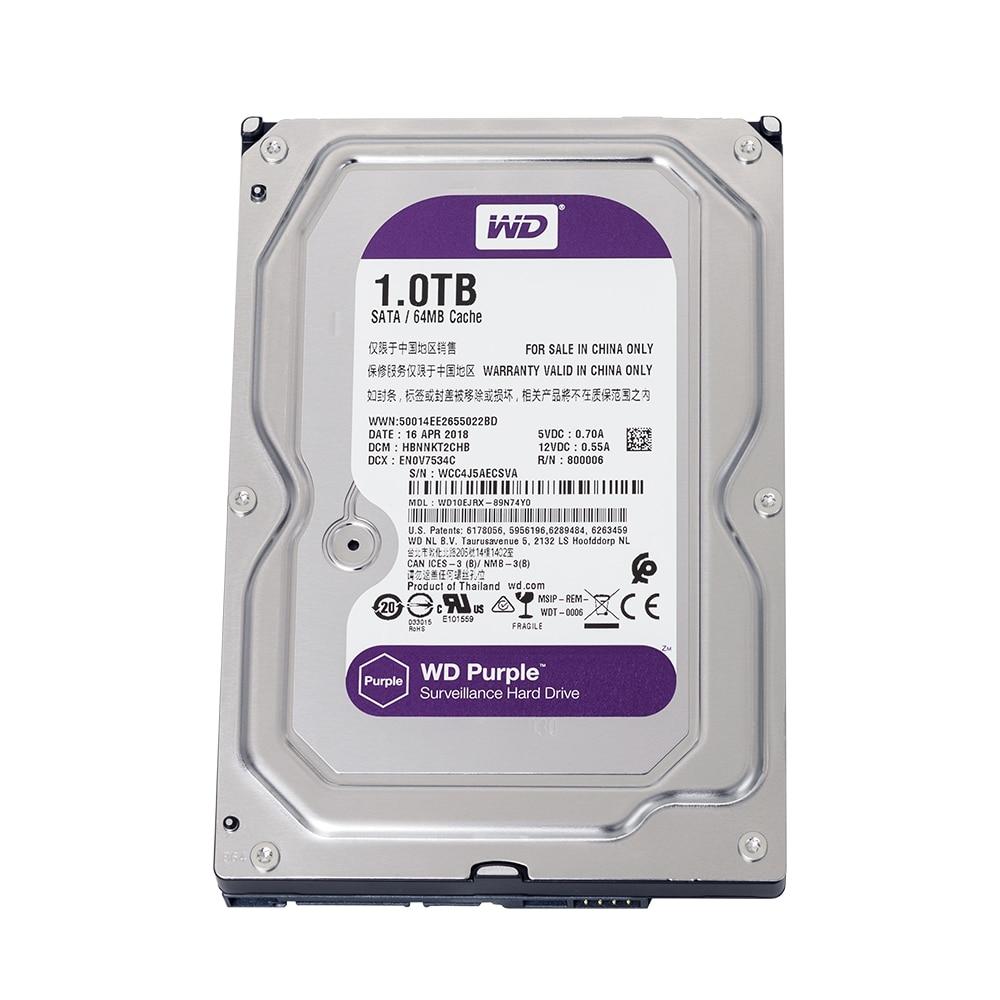 Western Digital Purple 1TB Hard Drive Disk Security System HDD 3.5
