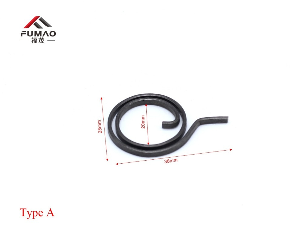 Bobina de resorte de manija de cerradura de puerta de alambre plano de 28mm para puerta A