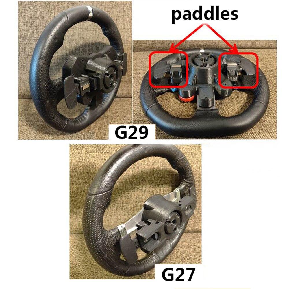غطاء قاعدة عجلة القيادة ، ملحق بديل مع مفاتيح ، إصدار محسن ، لـ Logitech G29 G27