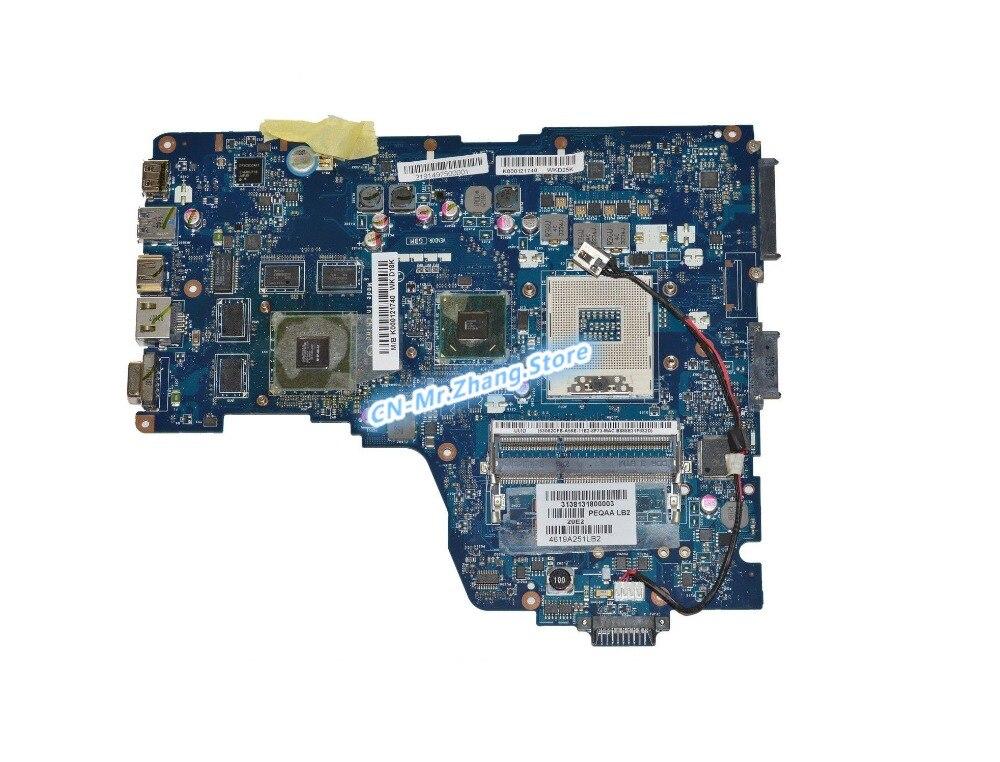 SHELI para Toshiba A665 A660 placa base de computadora portátil K000121740 PHQAA LA-6831P GT540M GPU 1GB RAM DDR3 prueba 100% bien