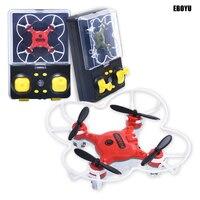 EBOYU QS5017 Mini UAV GYRO RC Nano Drone Multicolor LED Lights 3D Flip Headless Mode RC Quadcopter Drone RTF