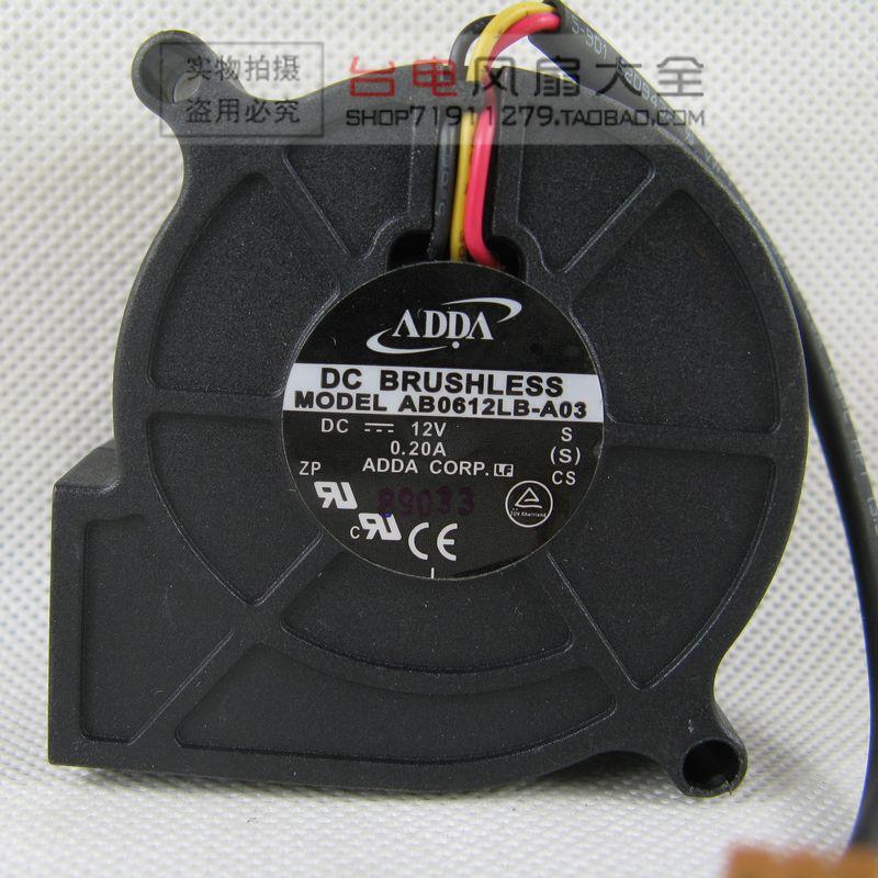 6025 12В 0.2A AB0612LB-A03 проектор/машина турбинный вентилятор