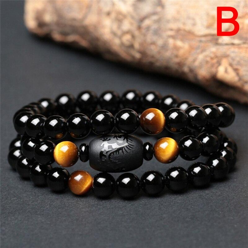 Pulsera de pérdida de peso con piedra Natural, cuentas de cristal a la moda para hombres y mujeres, joyería antifatiga, cuidado saludable QrhYK