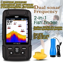 Ff718licd sorte com display a cores à prova dwaterproof água eco sonar sonar duplo freqüência sem fio & wired 200 khz/83 khz 100 m