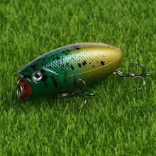 Nouveauté 1pc 10g 5.5cm Mini Popper leurres de pêche 3D yeux appâts manivelle Wobblers sattaquer Isca Poper japon appât dur artificiel