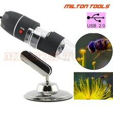 Microscopio Digital USB 50X ~ 500X 2MP con 8 LED cámara de vídeo lupa 500X Zoom lupas con caja al por menor