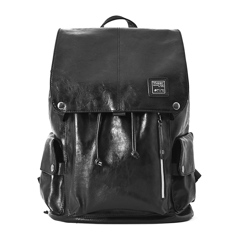 BINLIDAISHU العلامة التجارية خمر بو الجلود حقيبة الظهر مدرسة كلية الكتب للماء محمول حقيبة ظهر للعمل الأسود Mochila الظهر