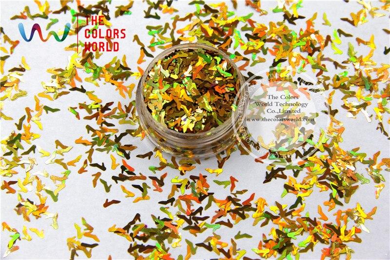 Zapatillas de tacón alto TCA200 Color oro láser Cenicienta polvo brillo de uñas 6MM brillo especular tatuaje decoración artística otros