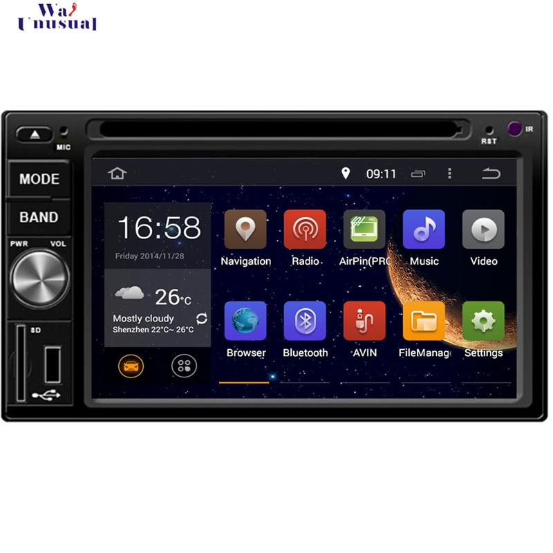 WANUSUAL 6,2 octa Core 32G 4G RAM Android 6,0 navegación GPS para Nissan 350Z 2003-2009 para Nissan Livina 2006-2010 con BT WIFI
