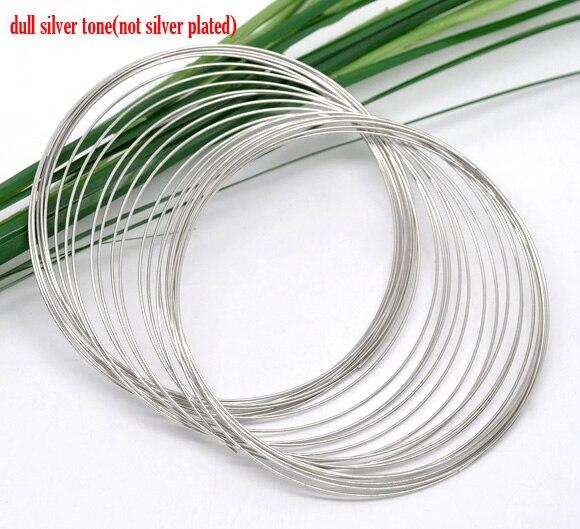 DoreenBeads детали браслетов из стальной проволоки, бисер, круглый серебристый цвет, диаметр 6,5 см (2 4/8 дюйма), 50 петель, новинка 2015