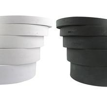 5 metri 1/1.5 cm/2 cm/2.5 cm/3 centimetri di larghezza bianco nero ad alta elastico fascia elastica pantaloni abbigliamento cucito FAI da TE accessori fatti a mano