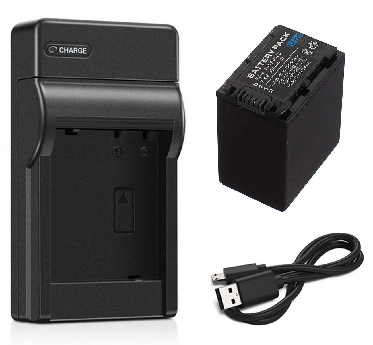 Paquete de baterías + cargador para Sony Handycam HDR-PJ610, HDR-PJ710V, HDR-PJ720, HDR-PJ740V,...