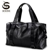 Hot Top PU Leather Men Travel Handbag Carry On Bags Duffel Tote Bag Male Messenger Bag Casual Crossbody Travel Bags