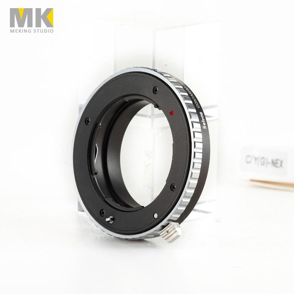 Selens cámara de metal para CONTAX G-NEX de montaje con anillo adaptador de lente soporte de metal/AV/m para Sony NEX-7 NEX-6L NEX-5T NEX-5N NEX-5