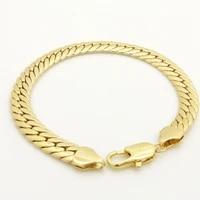 9 long bracelet yellow gold filled herringbone mens bracelet chain