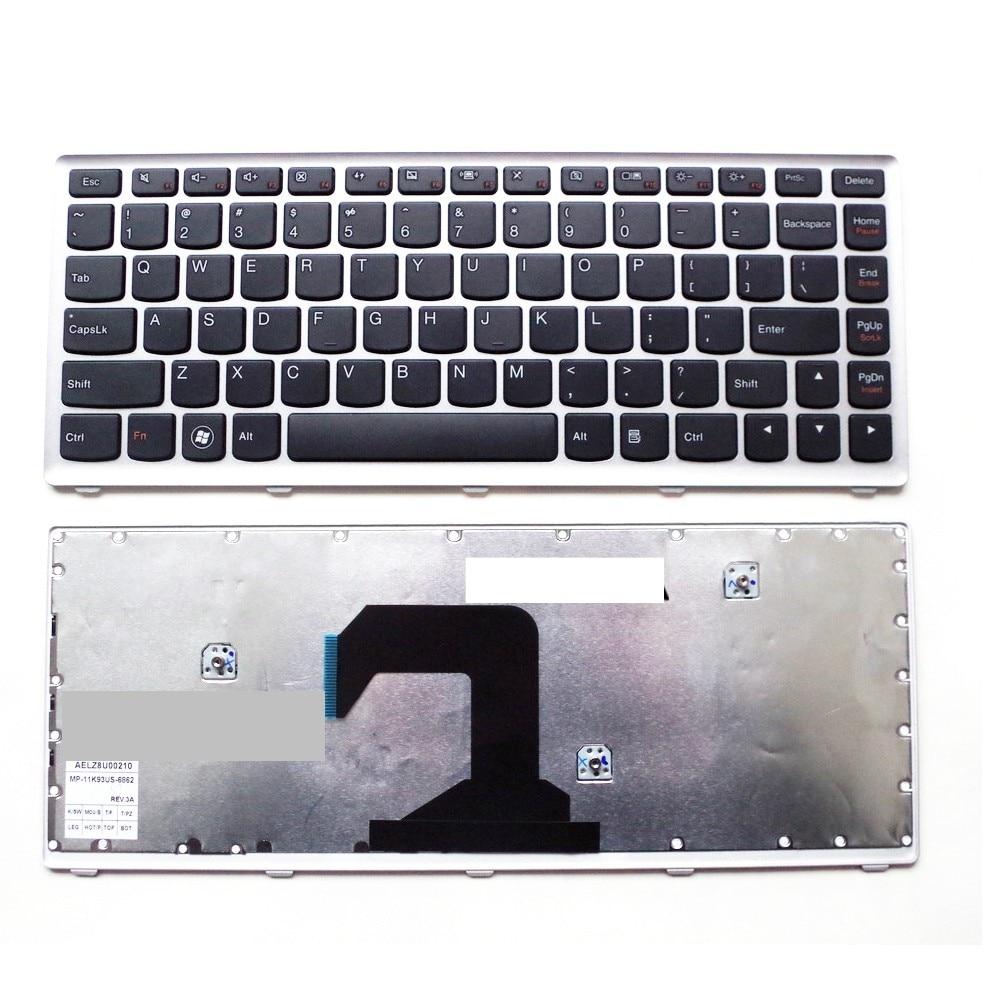 US gray New English Replace laptop keyboard For Lenovo U410-ITH IFI