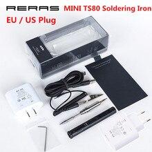 MINI TS80 Station de fer à souder numérique QC3.0 USB type-c OLED Interface programmable STM32 embouts de puce ensemble doutils prise ue américaine nouveau