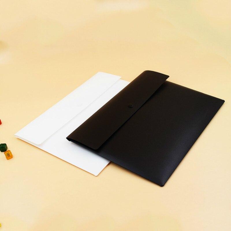 15 Uds A4 engrosamiento blanco y negro conciso reuniones de negocios personalizado publicidad bolsa de archivo carpetas de visualización con bolsillos