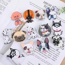 Cute Pet Hunde Abzeichen Pins Cartoon Welpen Husky Corgi Bulldog Broschen Frauen Jacken Shirt Demin Rucksack Emaille Pins Schmuck Geschenk