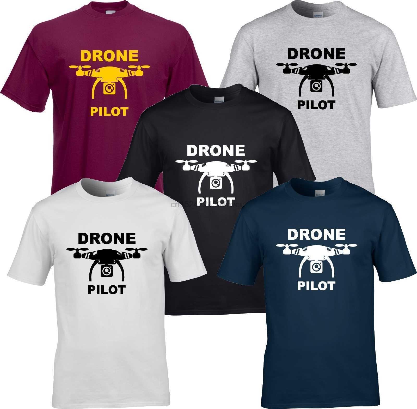 Drone pilot hombres camiseta unisex quadcopter
