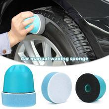 Éponge de polissage manuel voiture   Brosse de nettoyage de pneus, applicateur dhabillage ergonomique, Application de habillement pour pneus