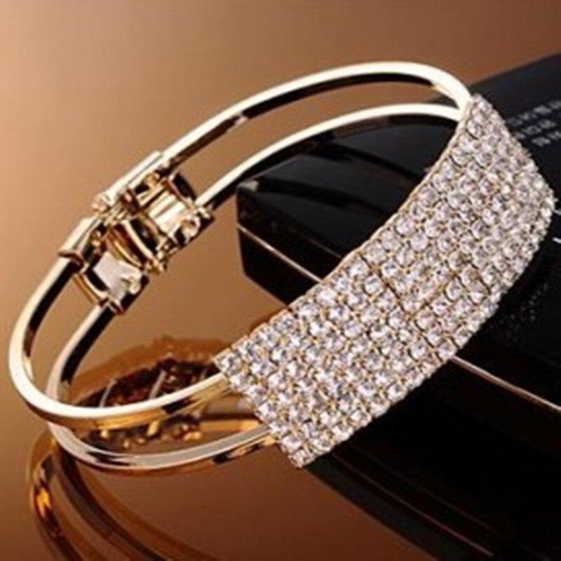 B050 Hot Sales Fashion Korea sweet Hollow out rhinestone bracelet bangle jewelry-CRYSTAL SHOP Free shipping