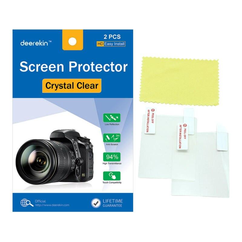 2x Deerekin Protector de pantalla LCD película protectora para Canon Elph 115 (IXUS 132 HS) cámara Digital