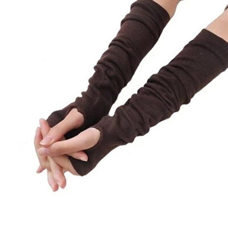 Новинка 2019, модные женские вязаные перчатки, длинные сексуальные вязаные перчатки, женские зимние теплые длинные вязаные перчатки без паль...