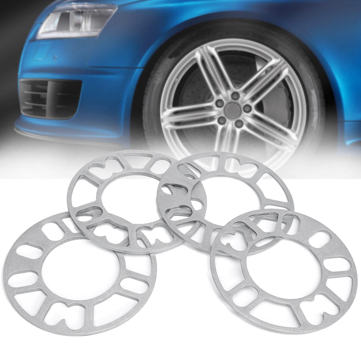 4pcs Car Wheel Spacer Shims Adjustable 4x98 4x100 4x108 4x114.3 5x100 5x105 5x108 5x112 5x114.3 5x120