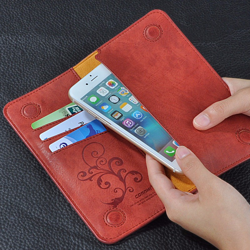 5.5 Uniwersalny Vintage Odwróć Skórzany Portfel Etui Do IPhone 5 6 7 Plus dla HTC Huawei LG Sony Dla Samsung S4 S6 Krawędzi Uwaga 7 Case 11