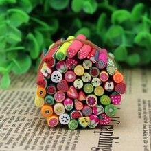 50 pièces femmes fruits Fimo cannes tige polymère argile 3D ongles beauté conseils décoration