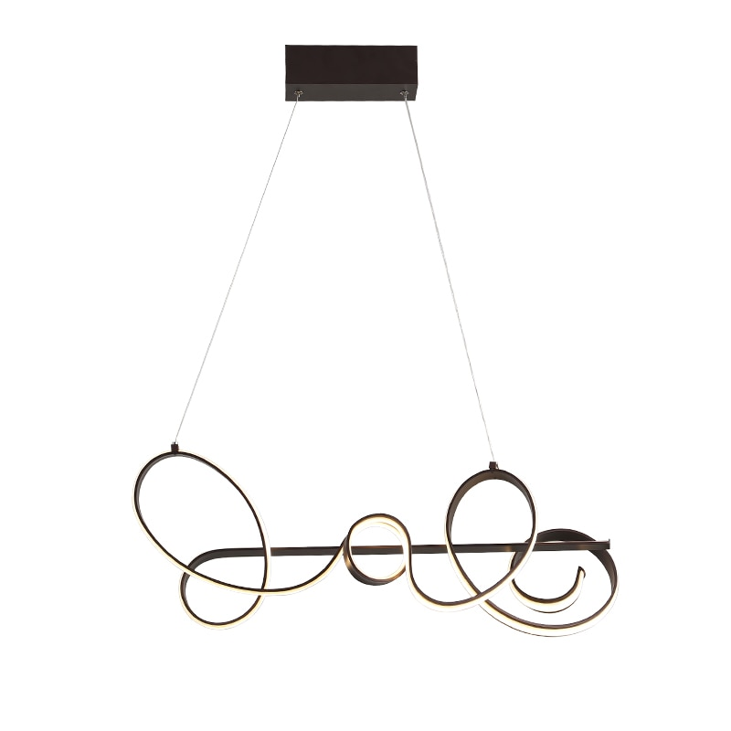 Coffee Finish Length 790mm Modern Led Pendant Lights AC85-265V For Dining Kitchen Room Bar Home Deco Pendant Lamp Fixtures  - buy with discount