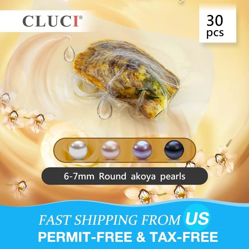 CLUCI 30 шт Akoya жемчуг в устрицах для женщин ювелирное качество 6-7 мм натуральный жемчуг морской воды устрицы с жемчугом WP035SB