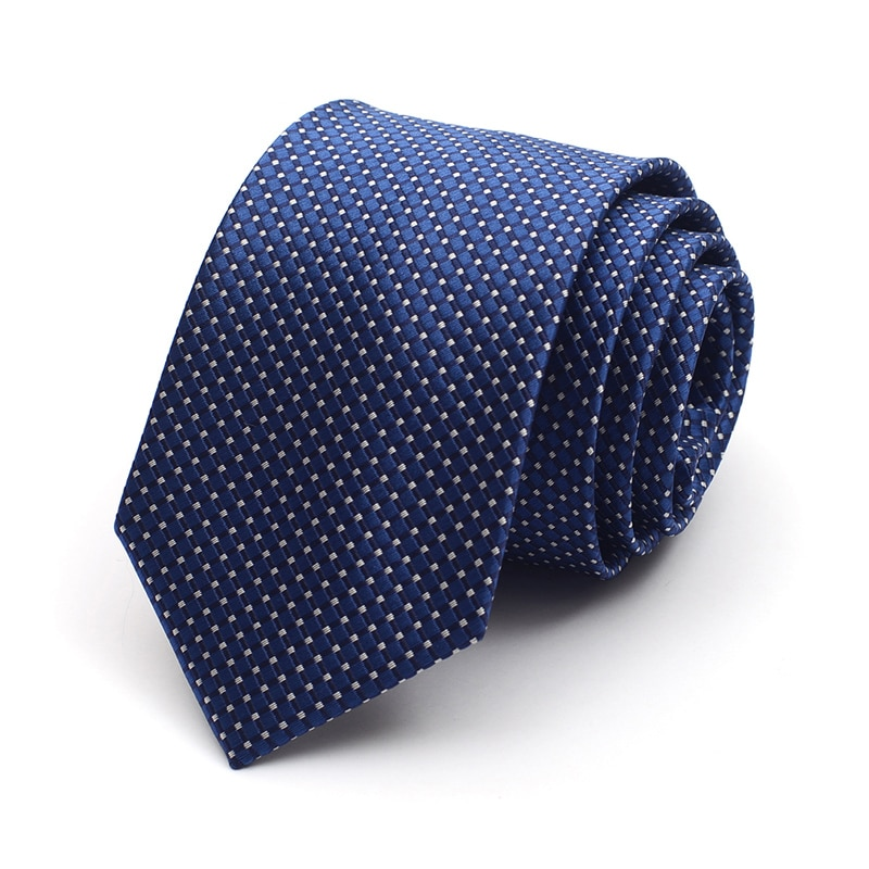 2019 New Arrivals High Quality Men Tie Plaid Solid Color Neckties Business Formal Party Wedding Groom Ties For Men with Gift Box