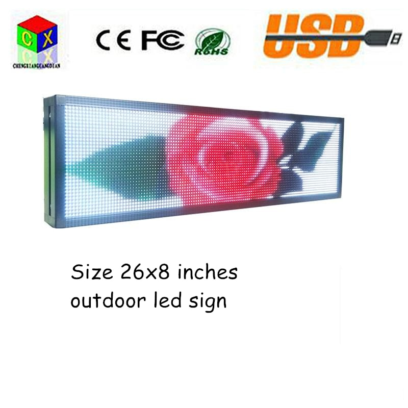 "P5 led Sign Outdoor Full Color Display 26""x8"