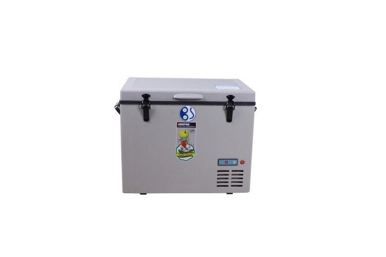 Frete grátis para myanmar 45l 12v freezer compressor portátil geladeira solarpanel geladeira movido a energia solar geladeira de acampamento