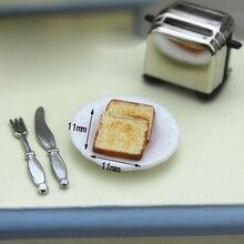 112 Mini-Machine à pain de Simulation de maison de poupée à léchelle avec des accessoires miniatures de maison de poupée avec des jouets de grille-pain de décoration mignon