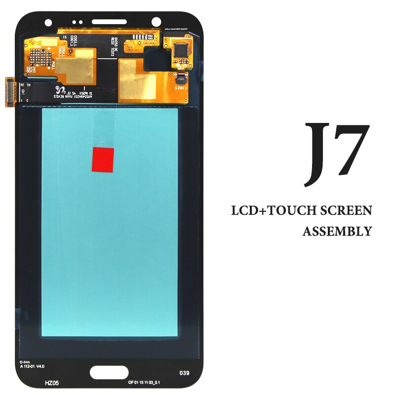 Para J7 2015 LCD 5,5 pulgadas J700 J700F J700Fn J700H pantalla de visualización de oro blanco negro AMOLED repuestos digitizer