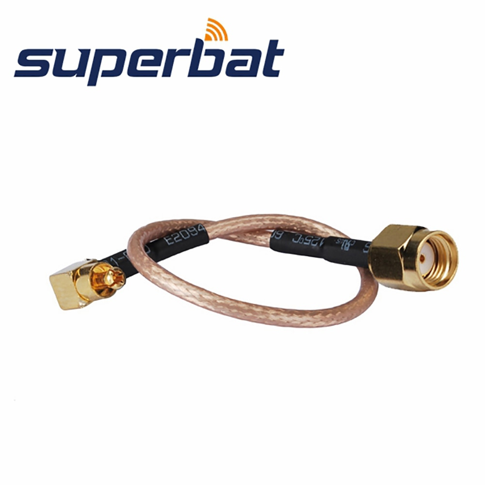 superbat f plug to fme male rf pigtail coaxial cable rg316 15cm for wireless Superbat RP-SMA Male (Female in) to MC-Card Plug Pigtail Cable RG316 15cm