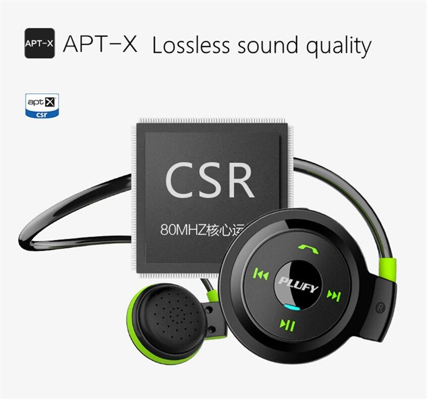 Fone de Ouvido Estéreo sem Fio Cartão de fm para o Iphone e Android Pendurado tipo de Ouvido Executar Esporte Bluetooth Apoio Telefone tf