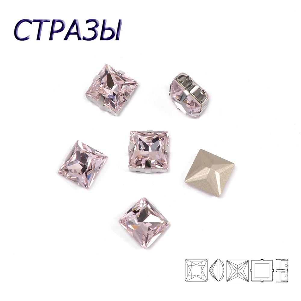 CTPA3bI luz de Color rosa súper belleza Cristal de calidad superior punto trasero coser en diamantes de imitación de garra, accesorios para bolsos de ropa DIY