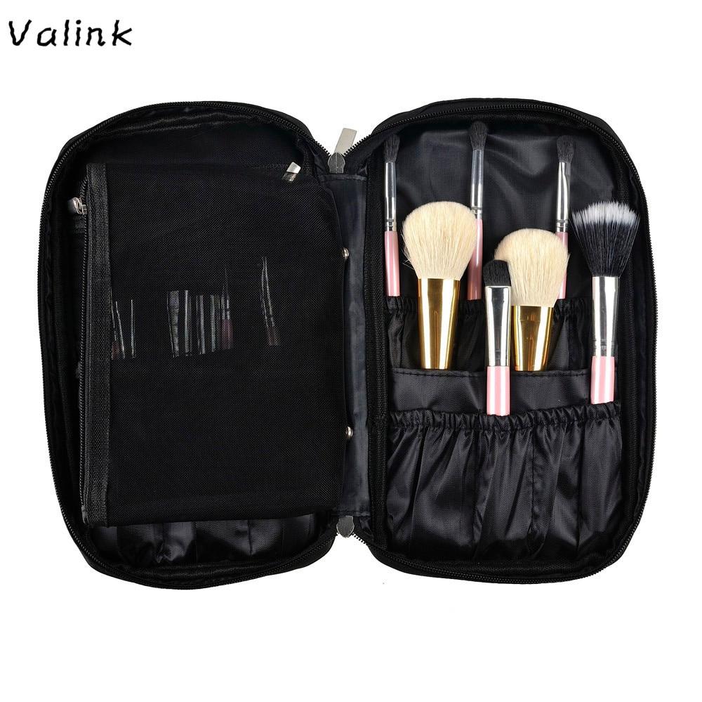 Valink 2017 nova maquiagem saco de cosméticos ferramenta escova organizador titular bolsa kit de bolso maquiagem saco necessaire trousse maquillage femme